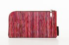 BASIC PURSE WITH ZIP Red with stripes