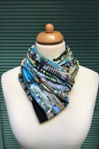 Budapest by sulyandesign loop scarf SD2209BP - Budapest/black