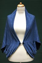 Cardigan SD10015BTK - Blue-Tabby Knitted/blue
