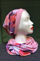 Women Beanies & Scarves SD6022PMP - Pink-mauve patterned/rose-tint