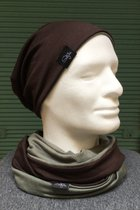 Men Beanies & Scarves SD704951 - moss green /chocolate-brown