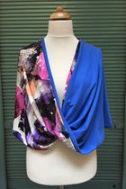 Shawl SD3026VCB - violet coloured-brindle/sky blue