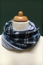 Men Loop Scarf SD42024ECP - English chequered pattern / grey
