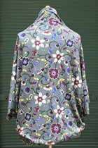 Cardigan SD10015PUF - Purplish flowered/blue