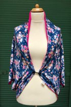 Cardigan SD1001SM - Small Flowered/pink