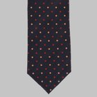 Drake's - Washed printed dot tie black