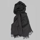 Begg & Co - Kishorn cashmere scarf charcoal