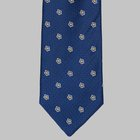 Drake's - Woven floral tie blue
