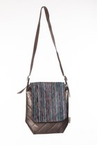 MEDIUM BAG WITH LONG COVER Bronze & black striped cover
