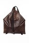 BIG DELTA BACKPACK - Dark brown raw leather