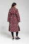 CATY coat - Red ocelot coat