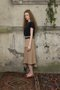 Eleonora skirt - Sand coloured  midi skirt
