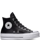 CHUCK TAYLOR ALL STAR LEATHER LIFT BLACK/BLACK/WHITE